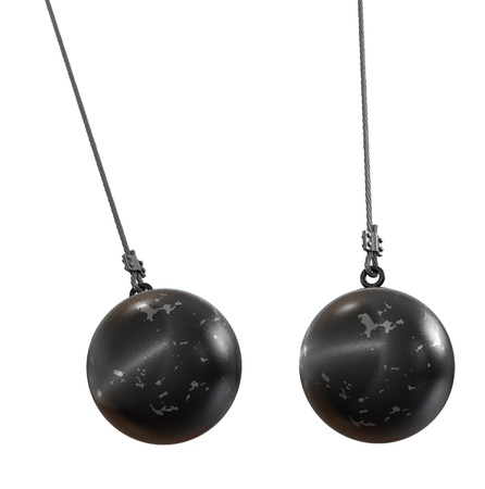 Wrecking ball isolated on white