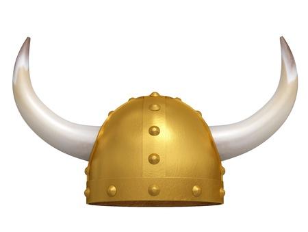 Viking Helmet isolated on white