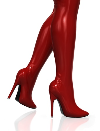 Red Thigh High Boots  Stock Photo - 14508883