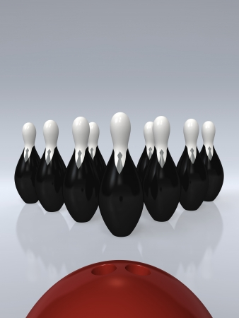 Business Bowling  3D concept image photo