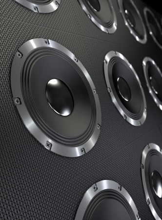 Bass Speakers  Abstract background Stock Photo