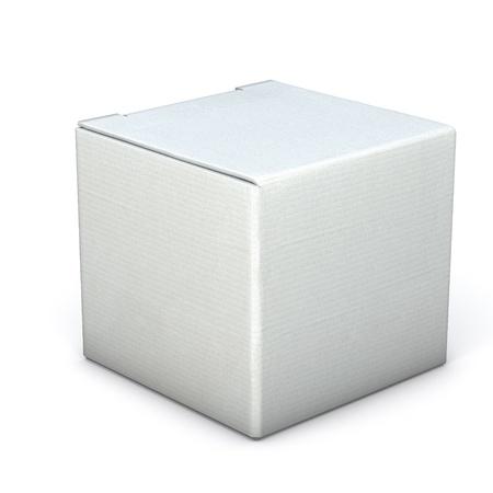Grey box isolato su bianco Archivio Fotografico - 15968041