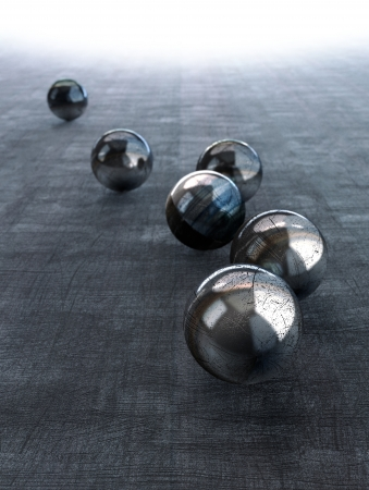 Chrome Spheres background  photo
