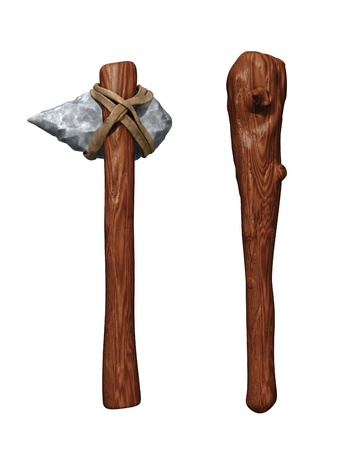 prehistoric human: Prehistoric Weapons  Stock Photo