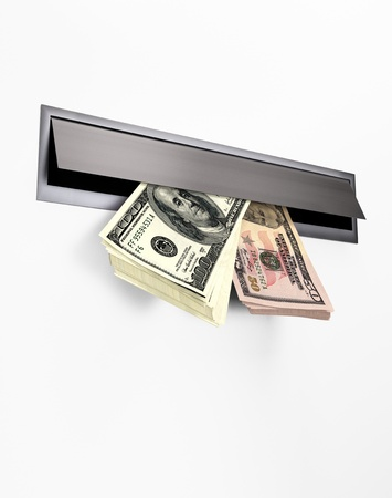 Money in a Letterbox II Stock Photo - 16482588