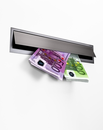 Money in a Letterbox Stock Photo - 16482589