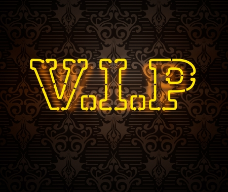 Neon VIP sign isolated on black Stock Photo