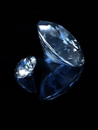 sapphire: Blue Diamonds on black background II