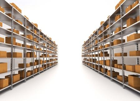 Storage Warehouse Shelves  industrial concept