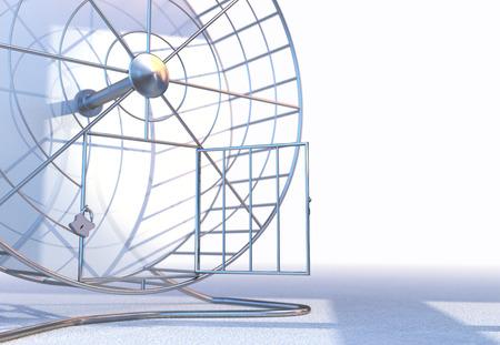 Hamster Wheel II concetto di Libertà Archivio Fotografico - 23284441