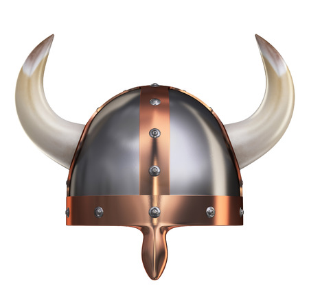 vikingo: Casco Vikingo II Foto de archivo