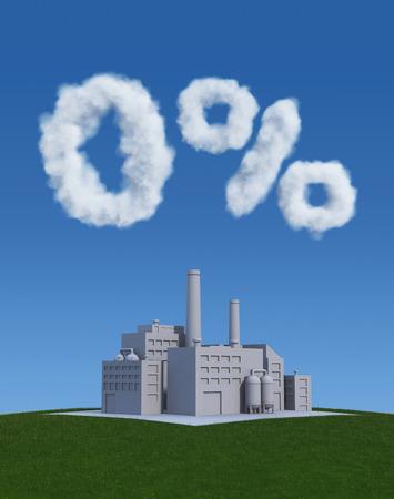 clean environment: Zero Waste - Clean Environment Concept Stock Photo