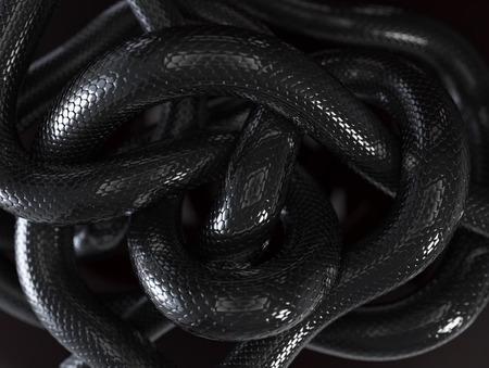 Zwarte Slangen Abstracte Achtergrond
