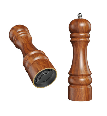 pepper grinder: Pepper   Salt Mills isolated with clipping paths