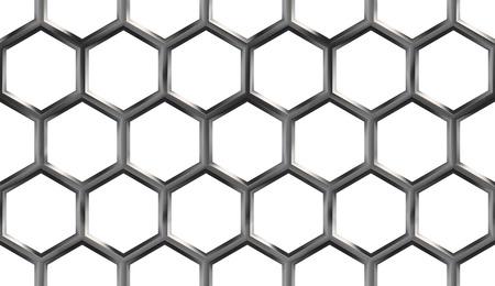 Metallic Honeycomb Seamless Pattern