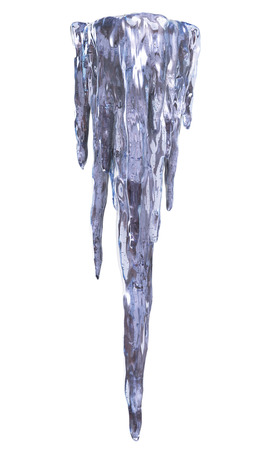 Icicles isolated. Clipping path