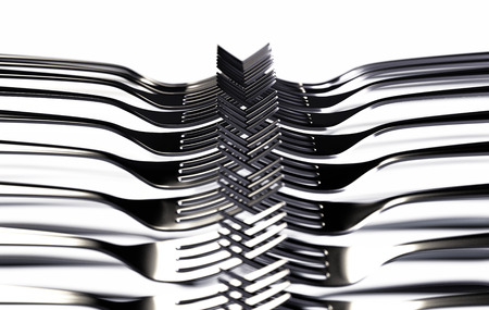 Forks on White. Abstract Background