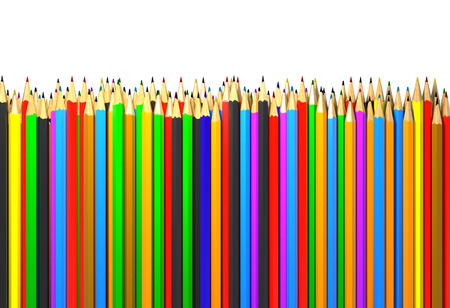 Colored Pencils. Abstract Background