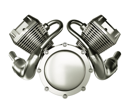 Abstract Engine Motor on White Background