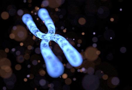 Chromosome Abstract Background. 3D illustration