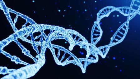 DNA Abstract Futuristic Background. 3D illustration Archivio Fotografico