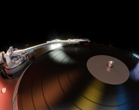 Turntable Abstract Background. 3D illustration Archivio Fotografico