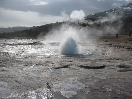Iceland geysers Stock Photo
