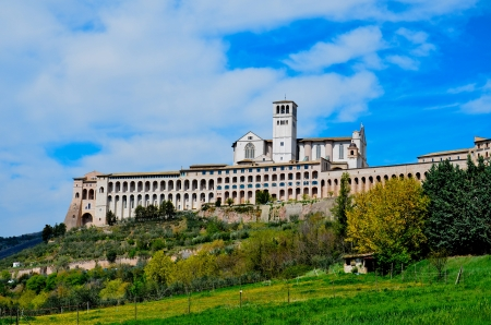 greater basilica, Assisi Stock Photo