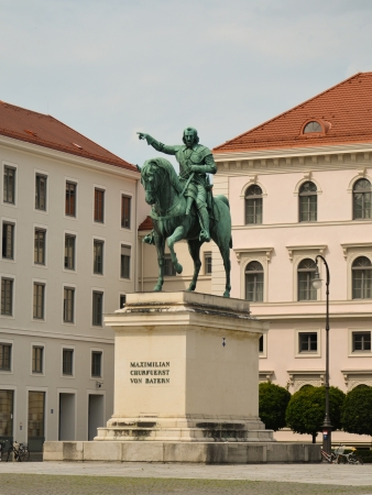 View of a statue of Bavaria in Munich