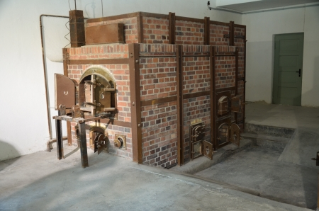 Local crematoria of the concentration camp Dachau Stock Photo