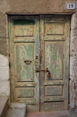 Tuscan island lily, old door