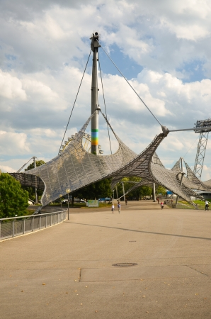 Entrance to the sports complex olympiapark Editorial
