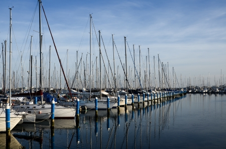 Ravenna, boats anchored at the pier Editorial