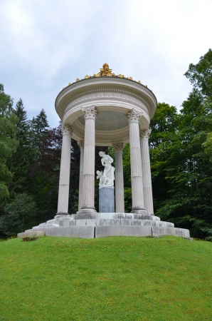 View of the Temple of Venus in the park in the castle of Linderhof