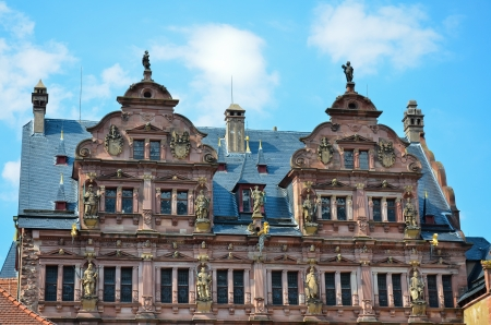 View of the splendid baroque facade of the castle