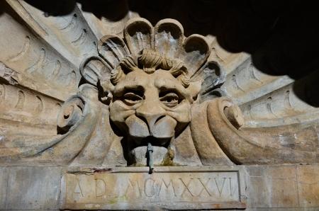 View of the main fountain of Radda in Chianti
