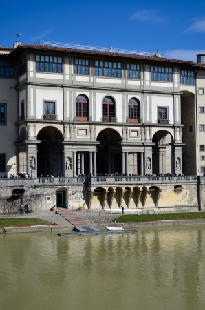 View of the front fa�ade of the Uffizi