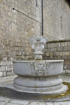 tuscia: Fountain situated behind the cathedral of San Lorenzo