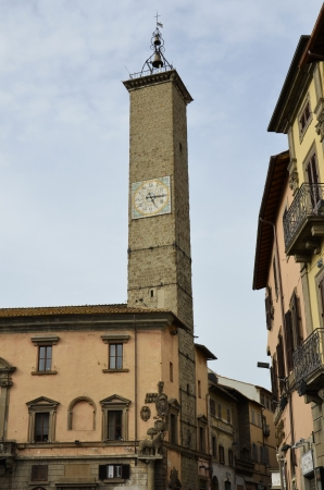 Splendid view of the clock tower and the bell tower Stock Photo
