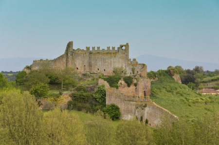 tuscania: Old ruins of a medieval fortress