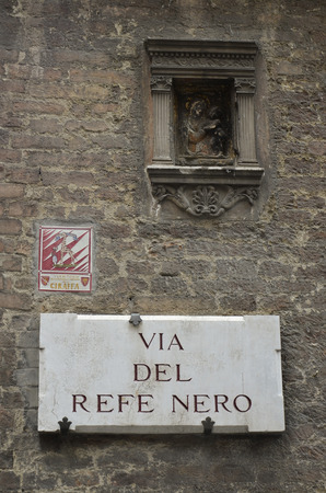 Nameplate of the district of the Giraffe, Siena Editorial