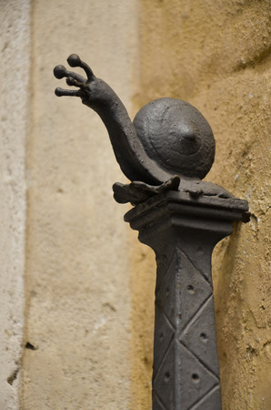 The snail, the symbol of a district of Siena Stock Photo