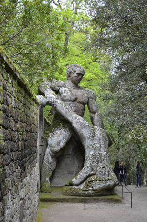 Statue of Hercules and Cacus, monster park, Lazio