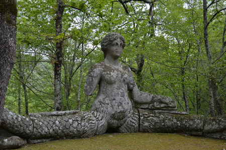 The statue of the mermaid, monster park, Lazio