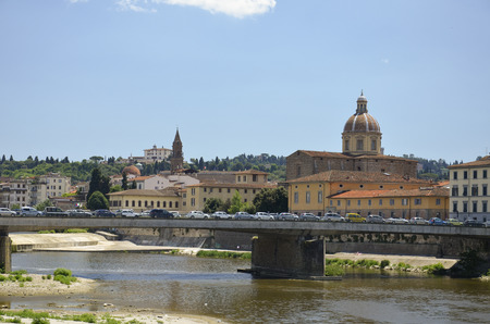 View of the other part of the city of Florence Stock Photo