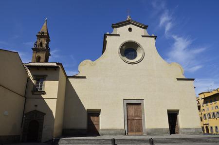 Facade of the church of Santo Spirito in Florence Stock Photo