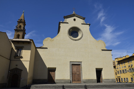 Facade of the church of Santo Spirito in Florence Stock Photo
