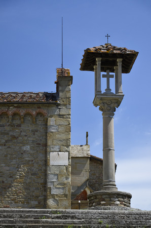 Climb to the convent of San Francesco, located on the hill of Fiesole Stock Photo