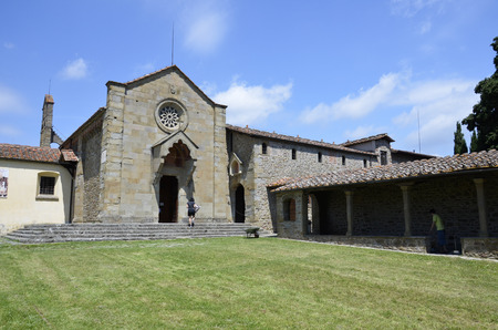 Convent of St. Francesco, located on the hill of Fiesole Stock Photo