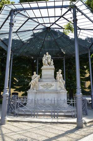 Monument commemorating in Marble representative Count Nicholas Demidoff Editorial